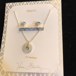 Vera Bradley March necklace & earring set